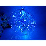 Viewpick 4m 40 LEDs Blue Fairy Lights Silver Wire String Lights AA Battery Powered Led String Starry Light for... christmas deals week
