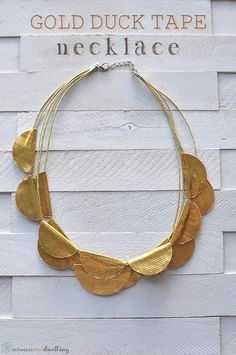 How to create a Gold Duck Tape Necklace.