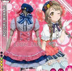Japanese Anime Love Live School Idol Project Minami Kotori Candy Maid Uniform Princess Lolita Dress Cosplay Costume one size