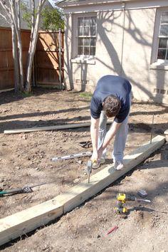 DIY Landscape Timber Edging