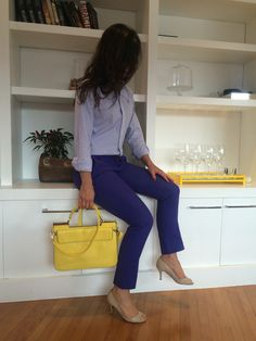 Great summer outfit for work. #execudivas #work #outfit #trabalho #job #purple #fashion #summer