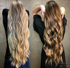 Projeto Along Hair – Recupere em 30 dias Brunette Hair With Highlights, Blonde Hair Looks, Brown Blonde Hair, Beautiful Long Hair, Gorgeous Hair, Balayage Hair, Ombre Hair, Hair Dye Colors, Hair Color
