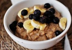 Overnight Maple and Brown Sugar Oatmeal - This overnight slow cooker breakfast recipe is packed with flavor from maple syrup, brown sugar, cinnamon and dried blueberries.