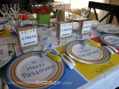 Toddler seder table