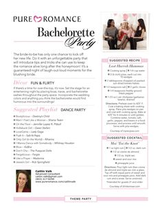 Pure Romance bachelorette parties are SO much fun and your bride-to-be will get spoiled with FREE products!