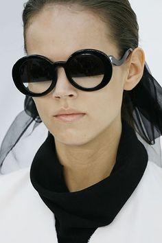 Love these Chanel half tint sunglasses