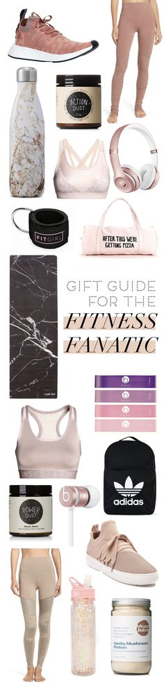 50+ gift ideas for the fitness lover. If you're not sure what to get for the fitness fanatic in your life then this list of gift ideas for the fitness freak is sure to be a hit!