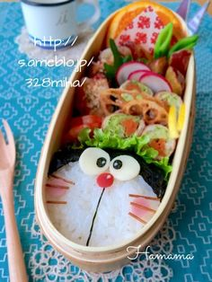 {0096FEFB-81BD-402C-B0F2-A14B06062CAF:01} Kawaii Bento, Cute Bento, Cute Lunch Boxes, Bento Box Lunch, Japan Street Food, Kawaii Cooking, Bento Kids, Bento Recipes, Food Garnishes