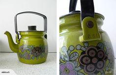 Vintage Arabia Finel Enamel Teapot
