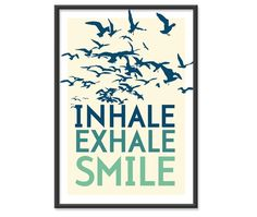 Inhale. Exhale. Smile - great slogan for a running shirt?!