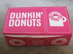 Dunkin Donuts box -1970s Every Sunday my dad would get a dozen dunkin donuts plus a specialty donut for my mom in a separate bag along with the Sunday boston globe