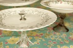 Make your own vintage cake stand