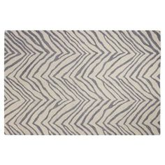 Check out this item at One Kings Lane! Tigard Rug, Ivory/Gray