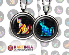 Instant Download CHEVRON CATS 1 inch 1.5 inch 20mm by KARTINKAshop