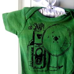 Oh Snap Vintage Camera Onesie