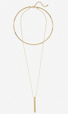 Collar And Pendant Necklace   Express