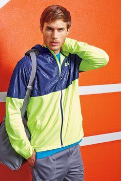 Under Armour® Embossed Lightweight Hoodie in neon colors for men