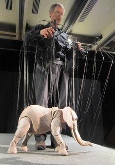 Stunning elephant marionette by the amazing Cashore Marionettes