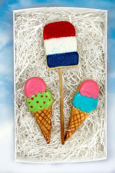 Delicious & summery ice cream sugar cookies by PSSweet on Etsy