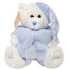 Baby Gift - Sleepy Bobby Teddy Bear & Blanket Gift Set
