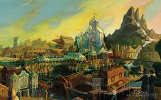 Concept for the never built Discovery Bay, Disneyland.