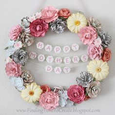 Mothers Day banner wreath