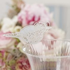 Vintage Lace Love Bird Place Cards (10) - A Wedding Less Ordinary