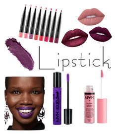 """""""Lipsticknation"""" by valeb7 on Polyvore featuring beauty, Charlotte Russe, Lime Crime, MAC Cosmetics and NYX"""