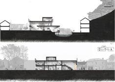 Sections on Behance Black & white escala de grises
