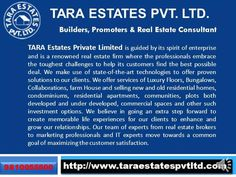 We are a leading real estate consultant in south Delhi with more than 30 years of experience. We deal in every type of properties Plots, Bungalows, Designer Floors, Commercial Property, Residential Property, Farm House, Pre Rented Property, Rental Property, Sale, purchase & Collaboration.  Call Now: +91-9810055500 Visit: http://www.taraestatespvtltd.com