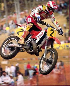 Jeff Stanton airing out his Factory Honda CR500R at Budds Creek in 1991. #TX10 #AXORuled