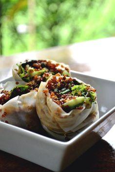 Sesame Quinoa Spring Rolls by comocomecami #Spring_Rolls #Sesame #Quinoa #Healthy