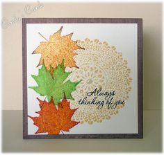 Autumn Leaves Doily