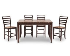 Counter Height Tables-Arcadia 5 Pc. Counter Height Group-Espresso finish, versatile style