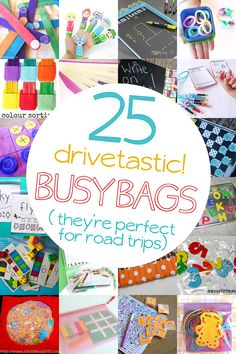 Here's a slew of busy bag ideas you can have ready for your next road trip! The kids will love you (and you'll love the trip for once).