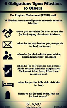 6 Obligations Upon Muslims to Other Muslims