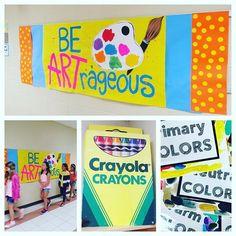 Be ARTrageous! First day in the ART room! #artroom #artteacher #elementary…