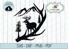 If you plan to purchase Cutting Files to be used for commercial purposes, to create any physical items that you will sell for profit, you must purchase a Commercial License. FOR COMMERCIAL USE, PLEASE VISIT: Wood Burning Patterns, Wood Burning Art, Deer Stencil, Stencils, Hunting Tattoos, Deer Silhouette, Elk Antlers, Scroll Saw Patterns, Cricut Creations