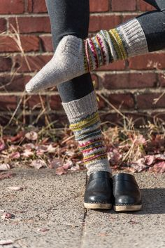 Skolt Sámi Boot Socks in The Fibre Co. Cumbria