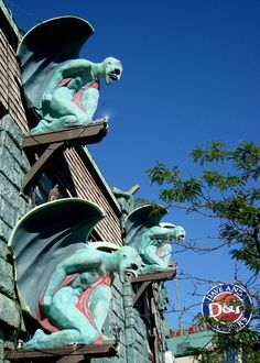 Niagara Falls. The nearby Dave & Buster's sort of blows the scary gargoyle idea. :-)