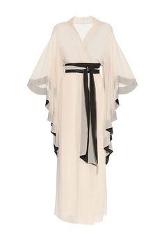 Халат из шелка с поясом D'amore/ silk robe