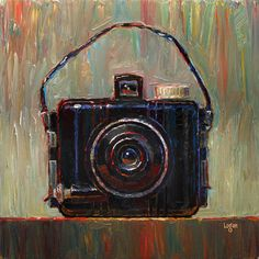 """Baby Brownie Camera"" - Original Fine Art for Sale - © Raymond Logan"