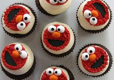 Elmo Birthday Cake and Cupcake Decorating Ideas