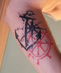 Nautical navy tattoo