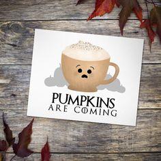 Pumpkins are coming… are you ready?! 🎃  #pumpkins #halloween #pumpkinspice #GOT #gameofthrones