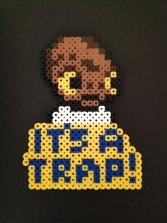 Star Wars it's a trap fridge magnet bead art Pixel Beads, Pixel Pattern, Display Resolution, Great Christmas Gifts, Types Of Art, Bead Art, Perler Beads, Art Boards, Pixel Art