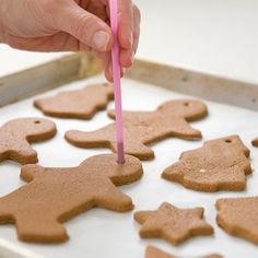 Find out how to make your own cinnamon salt dough Christmas decorations.