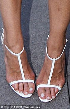 Katie Holmes: Nice pedicure, shame about the bunions. Tom Cruise's ex, 36, has problems with both feet