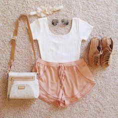 How to Chic: CUTE PINK SHORTS - OUTFIT SET .....please jump into my closet NOW