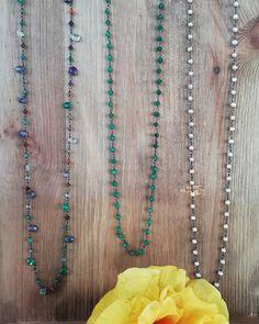 ▪️3 Shades of Rosary▪️ #photoshooting #handmade #crafts #jewelry #necklaces #rosary #whitepearl #pearl #greenonyx #onyx #semipreciousstones…